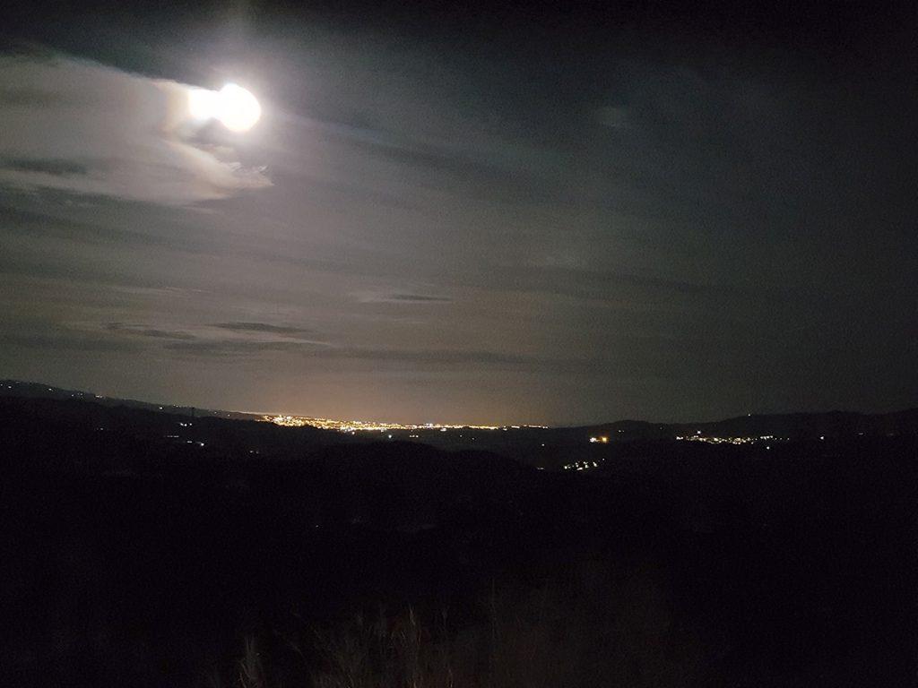Holiday Home Encantada views by night